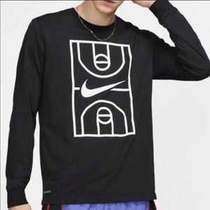 Nike Men's Long Sleeve Basketball Top Shirt